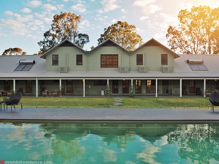 Mr and Mrs Romance - Where to stay in the Hunter Valley - Spicers Vineyard Hunter Valley