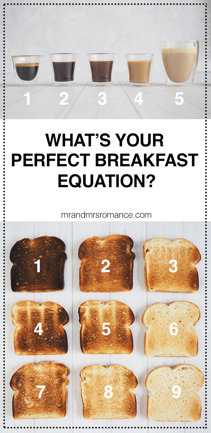 Mr & Mrs Romance - the perfect breakfast equation - KitchenAid breakfast equation