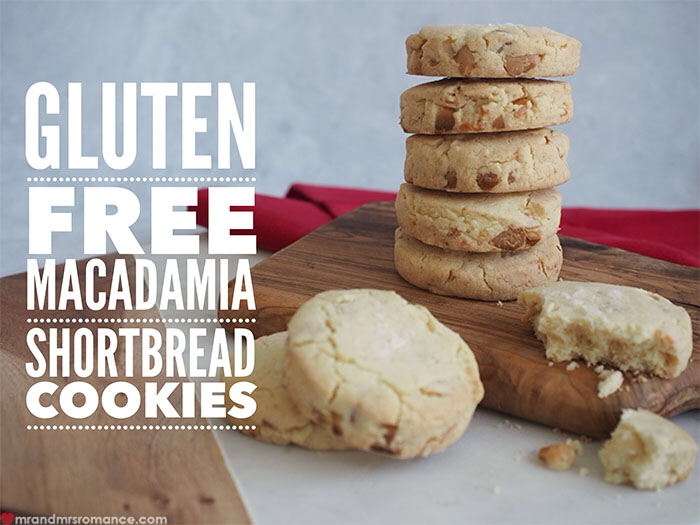 Mr and Mrs Romance - Gluten free macadamia shortbread cookie recipe