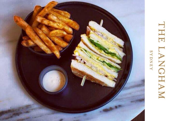 The Langham's club sandwich - via The Langham's Facebook page