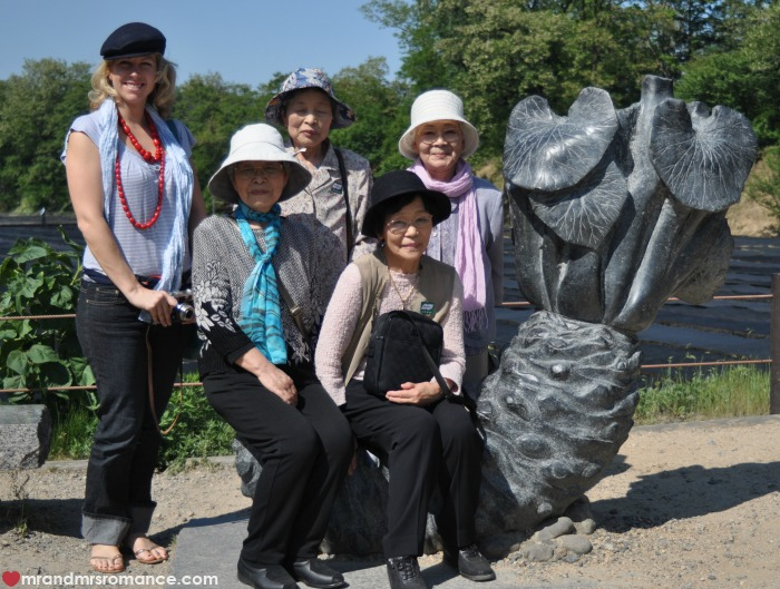 Mr & Mrs Romance - Japan escape - 16 Mrs R and friends on giant wasabi