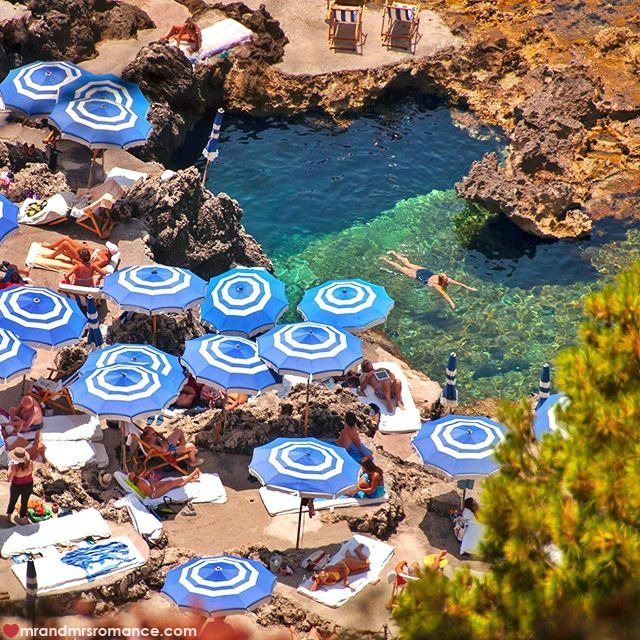 Mr & Mrs Romance - Instagram Diary - 54 private beach on Capri