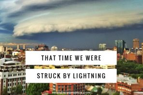 That time we were struck by lightning