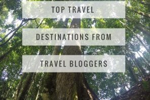 Top travel destinations from travel bloggers