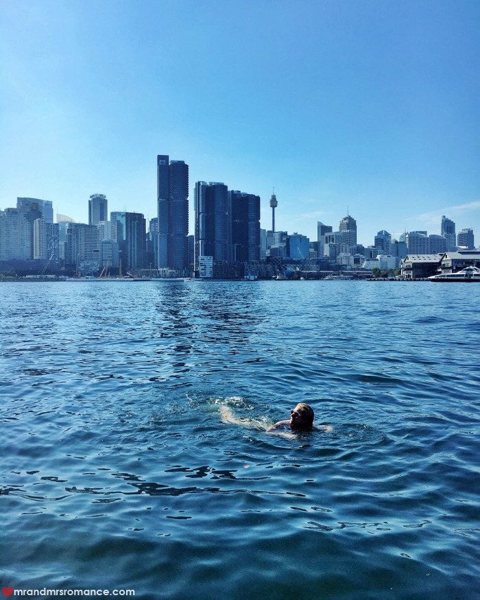 Mr & Mrs Romance - IG Edition - 10 swim in the harbour