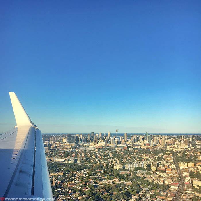 Mr & Mrs Romance - IG Edition - 18 Sydney plane window