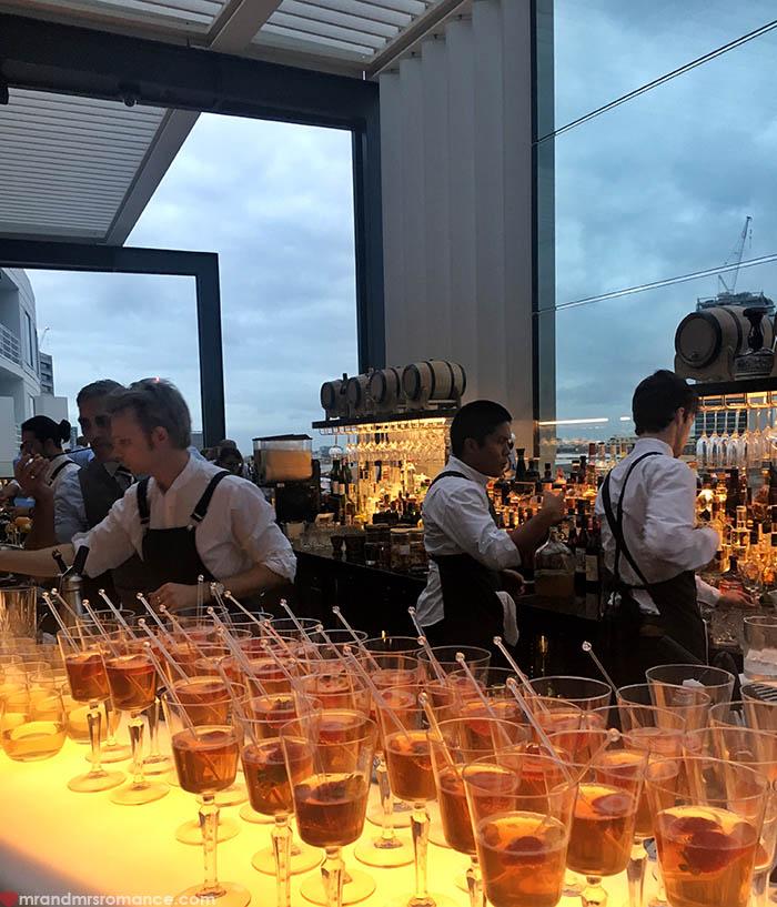 Mr and Mrs Romance - IG Edition - 24 Zephyr rooftop bar Hyatt Regency Sydney
