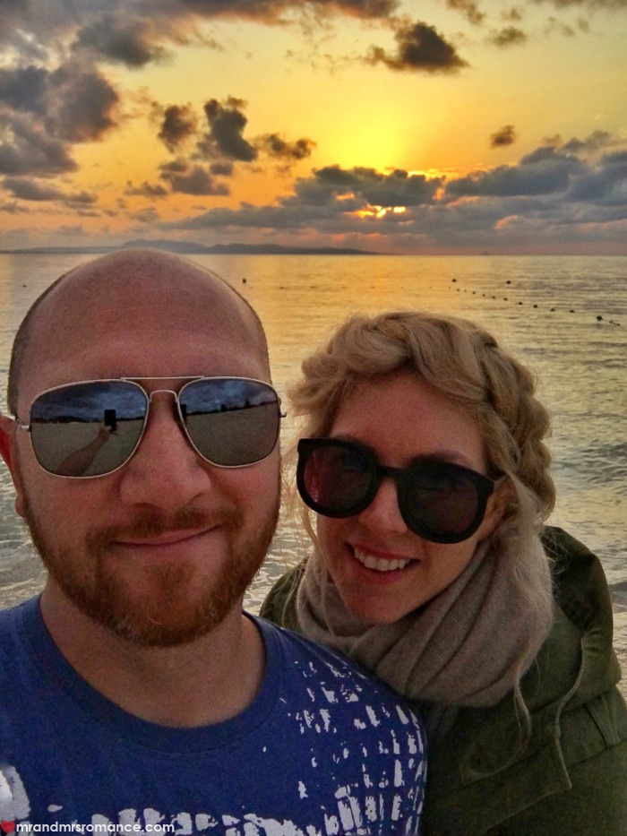 Mr & Mrs Romance - celebrate your anniversary - us at sunset in Okinawa