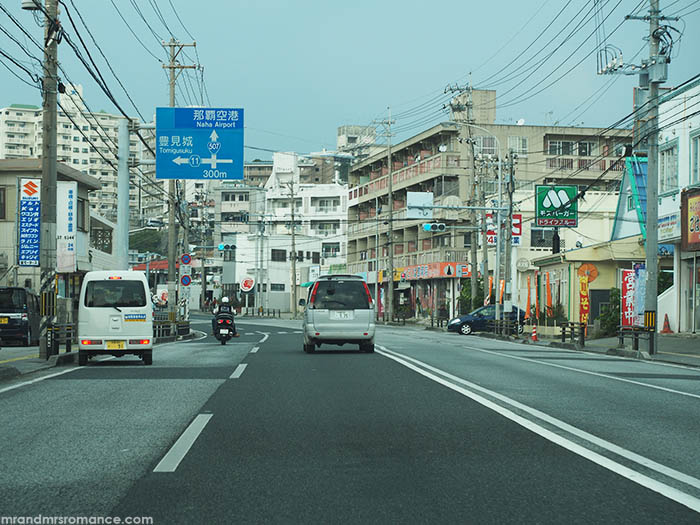 Mr and Mrs Romance - how to drive in Japan - Okinawa road
