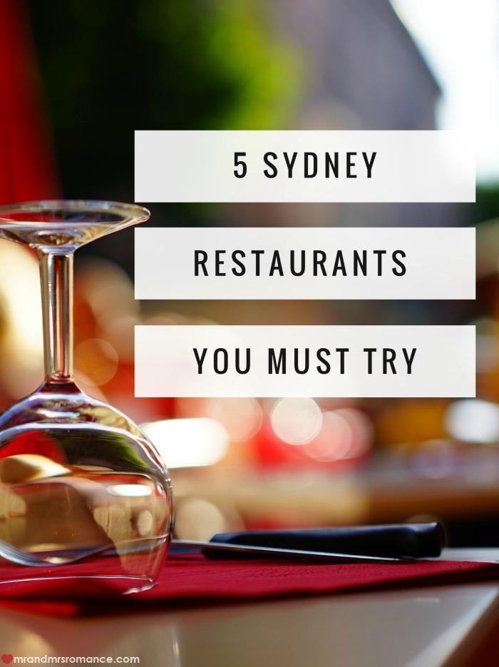Sydney restuarants