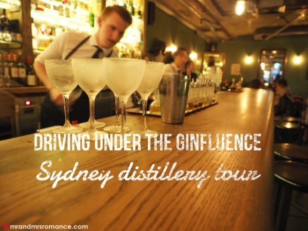 Mr & Mrs Romance - Gin Queen gin distillery tour Sydney