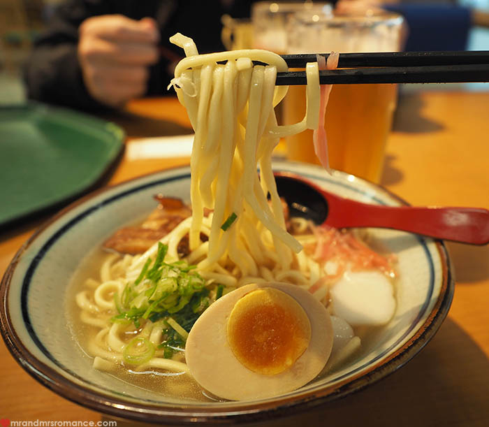 Mr and Mrs Romance - what to eat in Okinawa - soba ramen
