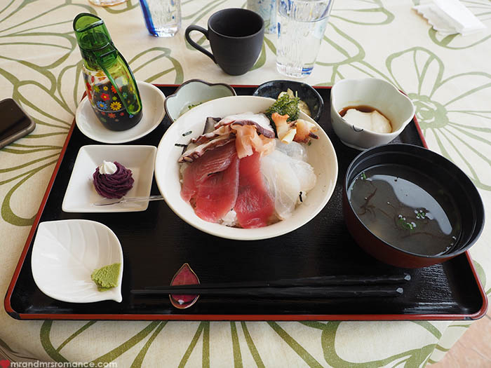 Mr and Mrs Romance - what to eat in Okinawa - sashimi jimami tofu
