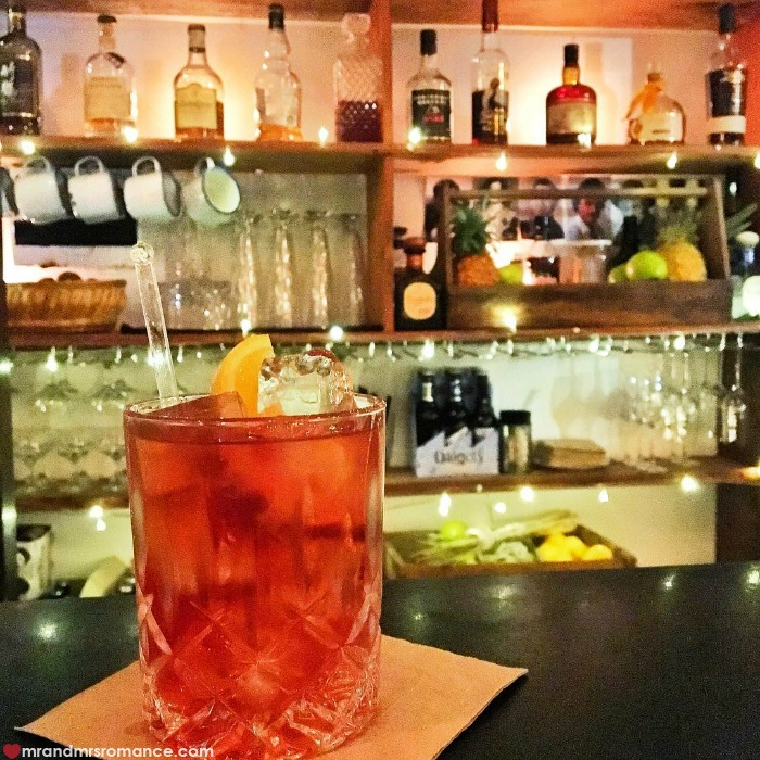 Cocktail making - Mr & Mrs Romance