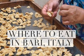 Where to eat in Bari, Italy – 3 top tips to make your mouth water
