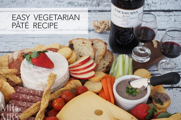Mr & Mrs Romance - easy vegetarian pâté recipe with Cockburn's Port
