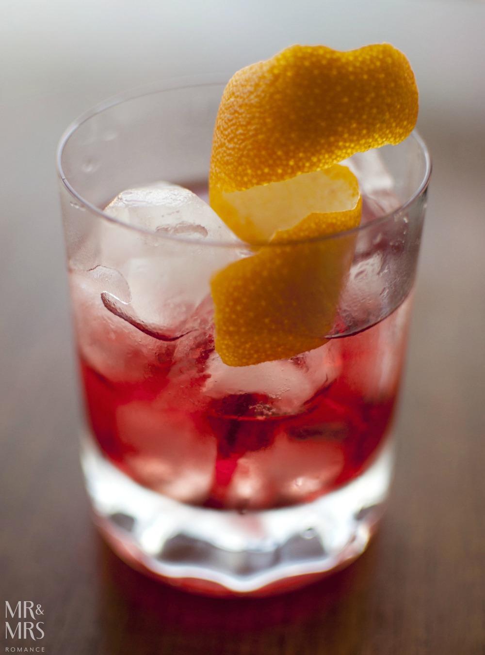 Sloe gin negroni recipe - Mr and Mrs Romance
