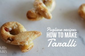 Food that takes you travelling – how to make taralli