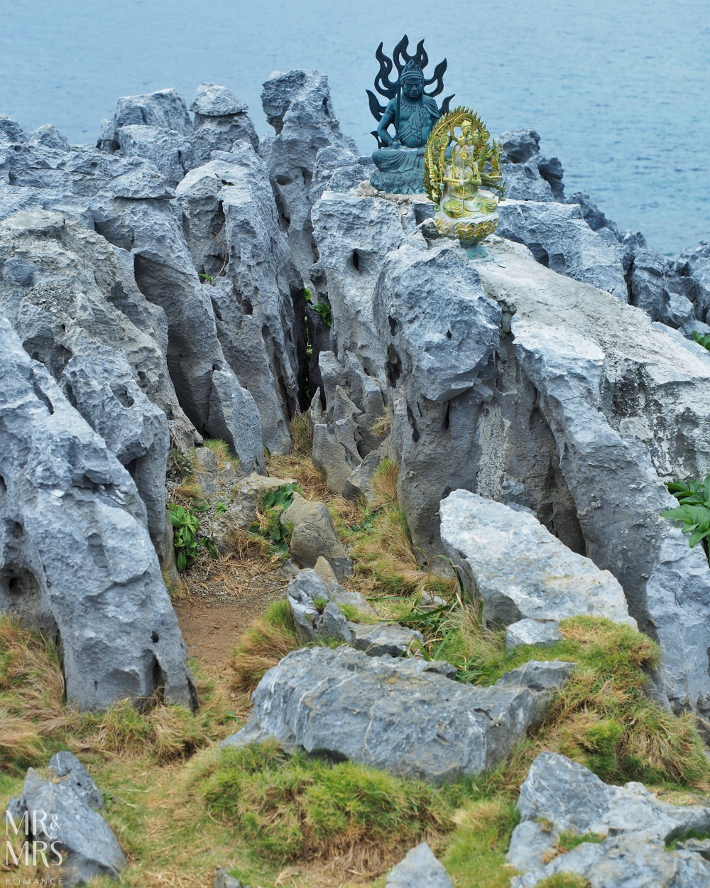 Power Spots, Okinawa, Japan - Mr & Mrs Romance - shrines on rocks