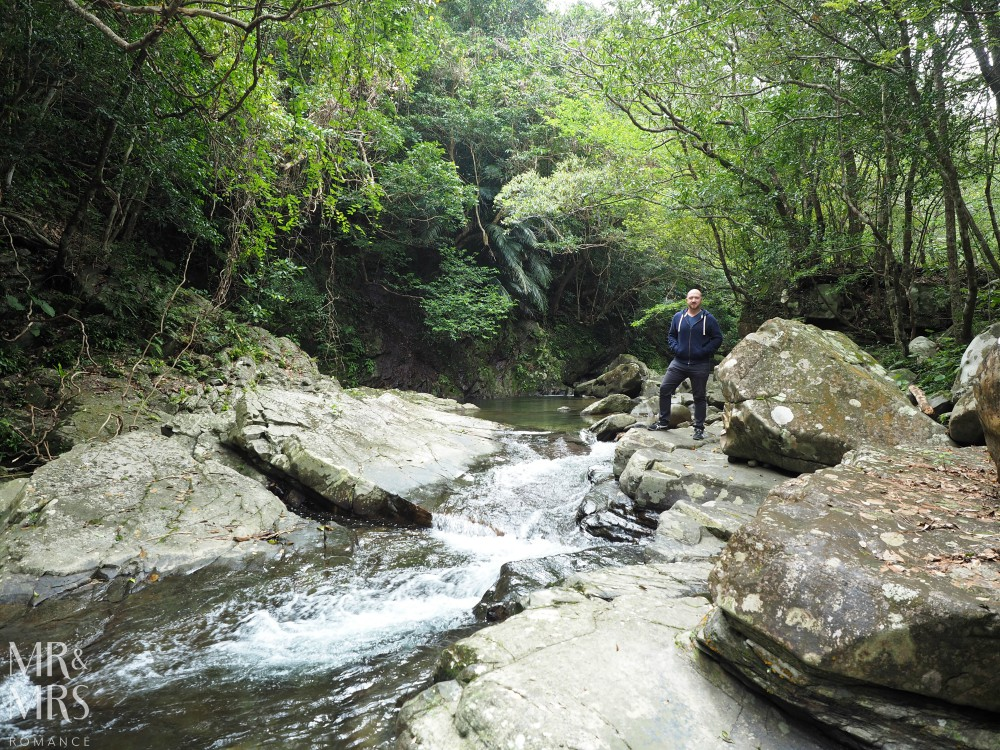 Power Spots, Okinawa, Japan - Mr & Mrs Romance - Hiji Waterfall river and Mr R