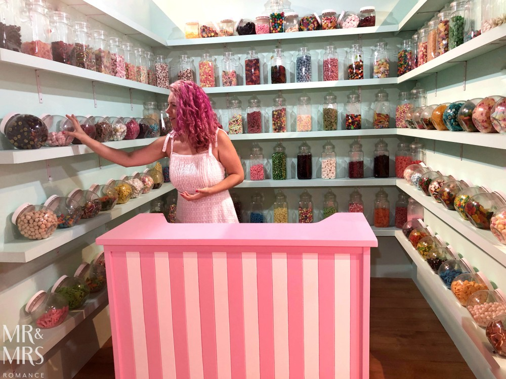Sugar Republic, Myer Sydney - kid in a candy store