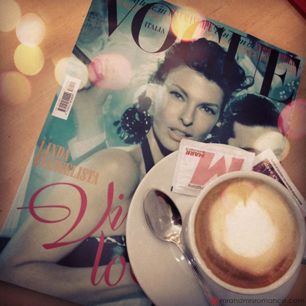 Vogue Italia and coffee