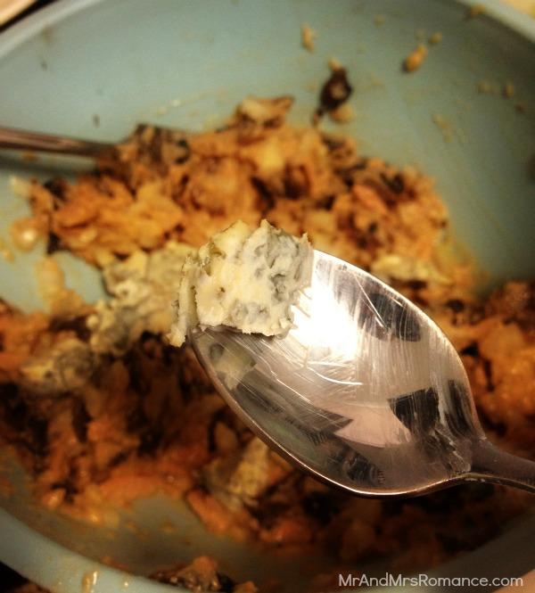 Gluten-free tuna mushroom patty with stilton