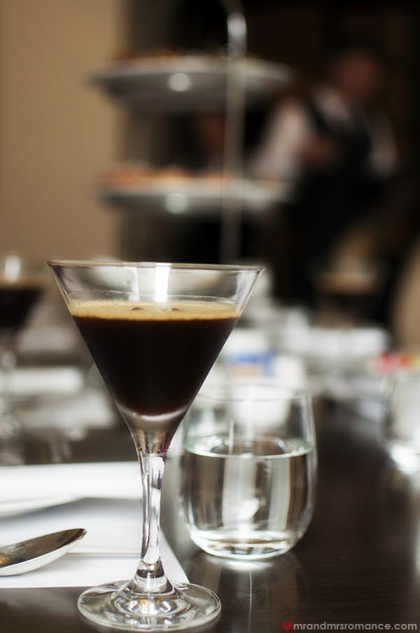 Intercontinental-Hotel Sydney High-Coffee espresso martini drink