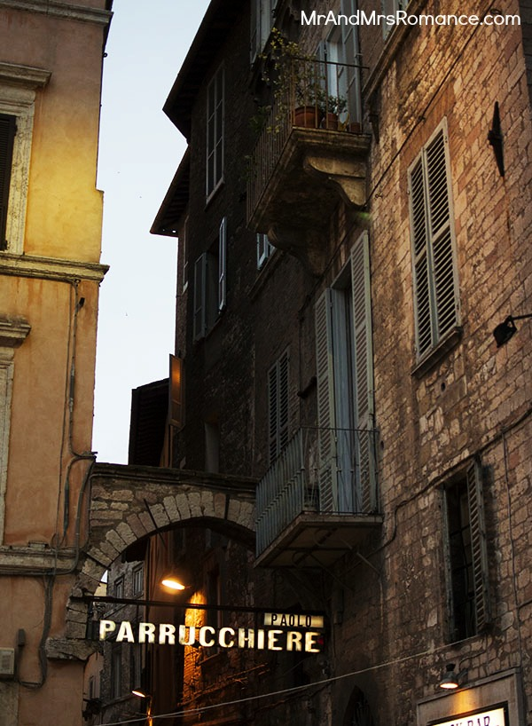 Perugia vacation italy holiday sunset city street