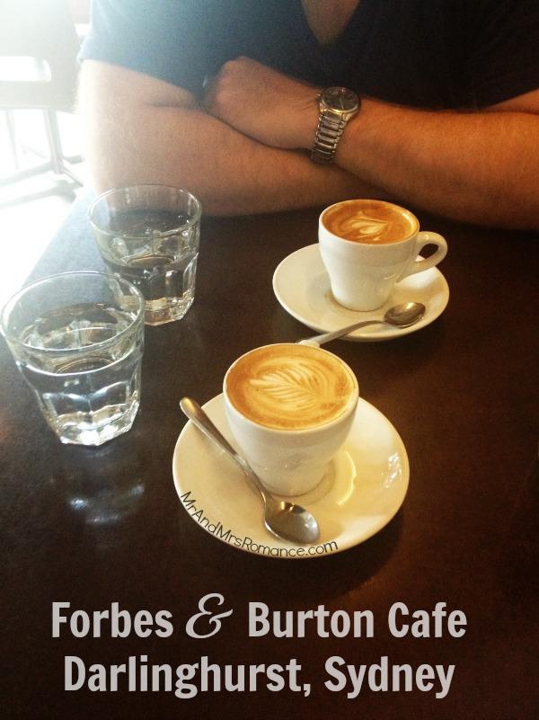 Mr & Mrs Romance - Sydney Eats - Forbes and Burton cafe food coffee