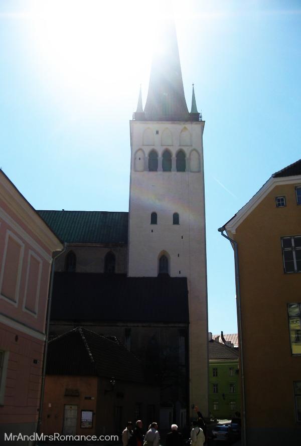 Mr & Mrs Romance - Tallinn Old Town - St Olaf's Church spire