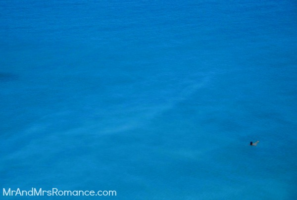 Mr and Mrs Romance, Zante, Greece, holiday, arch, beach, shipwreck