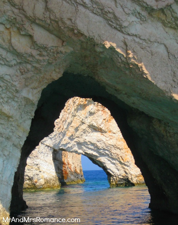 Mr and Mrs Romance - Zante, Greece - natural arch