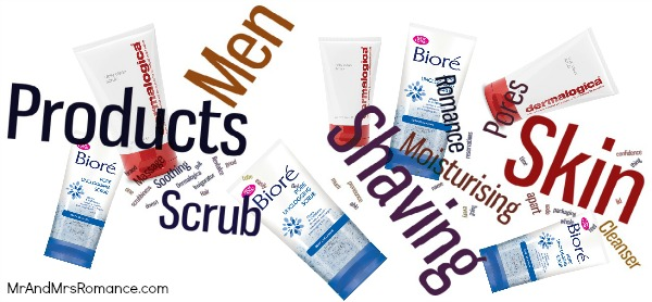 Mr and Mrs Romance - men's skin care - scrub Word cloud