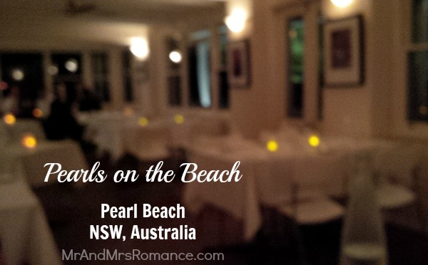 Mr & Mrs Romance 1 - Food & Drink - Pearls on the Beach Title pic