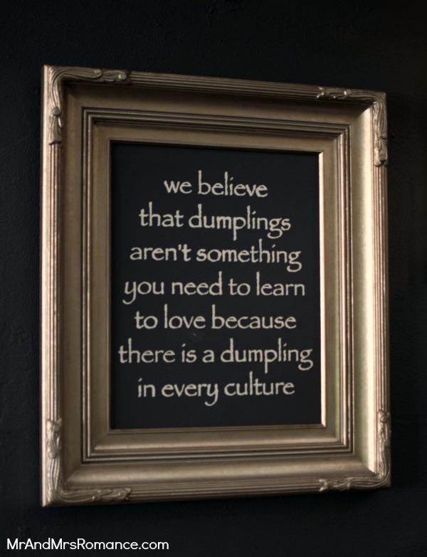 Mr and Mrs Romance - Friday Drinks - Royal Albert dumpling sign