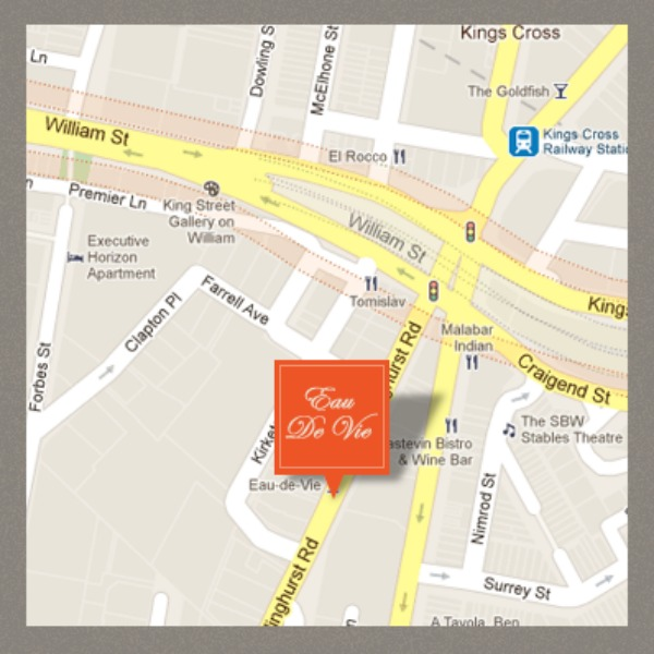 Mr and Mrs Romance - Friday drinks - Eau de Vie map