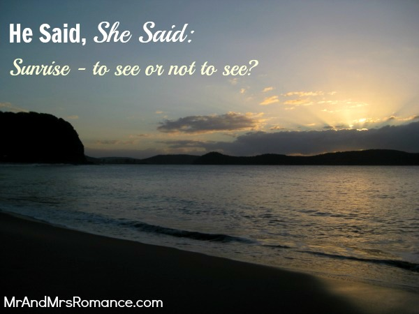 Mr and Mrs Romance - He Said She Said - Sunrise Title1