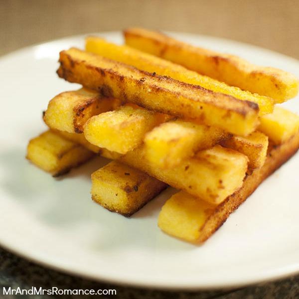 Mr and Mrs Romance - food & drink - polenta chips 9