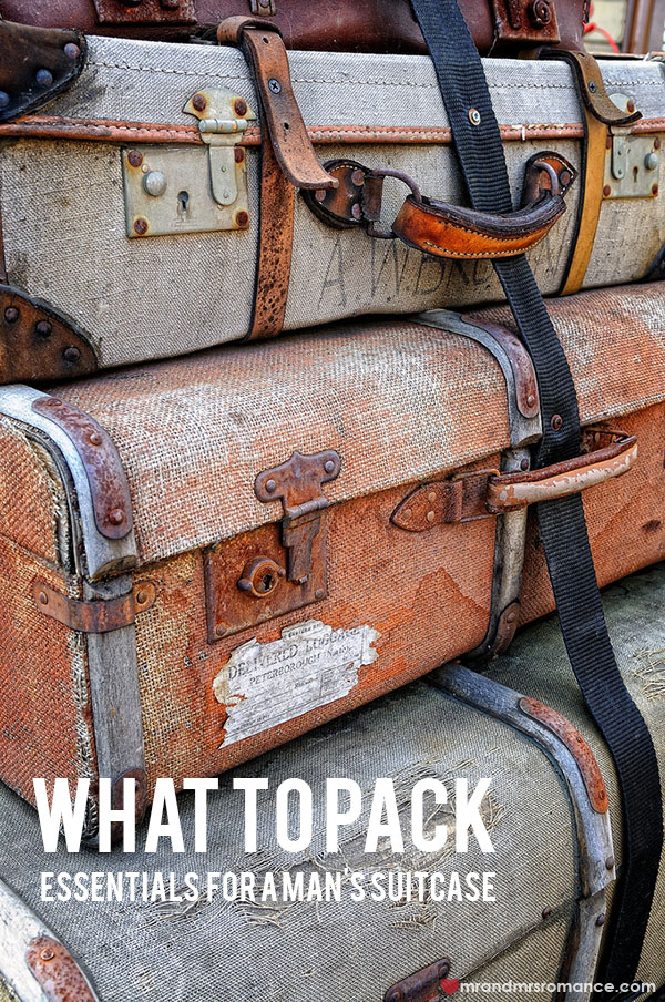 What to pack - essentials for a man's suitcase