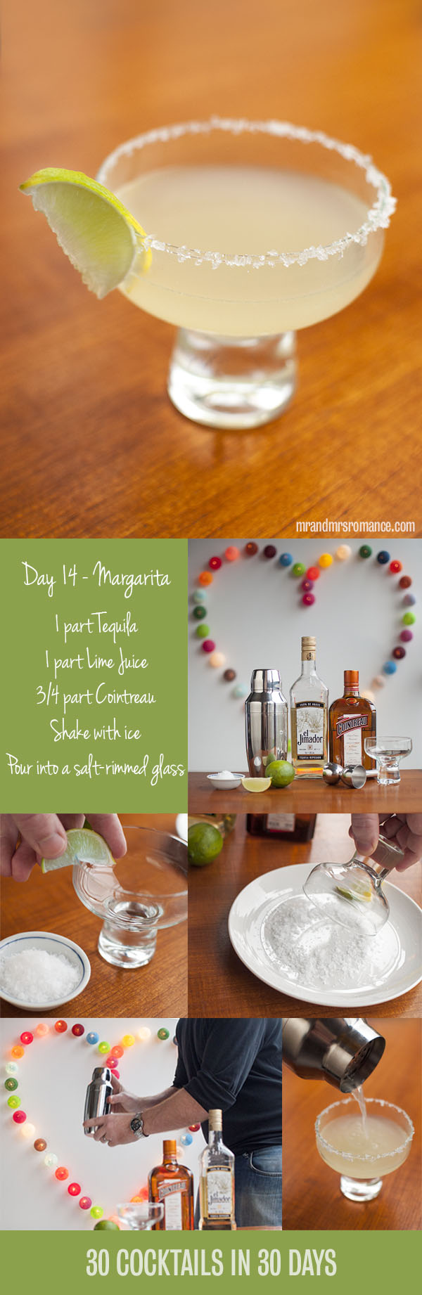 Mr and Mrs Romance - Day 14 - The Margarita cocktail recipe