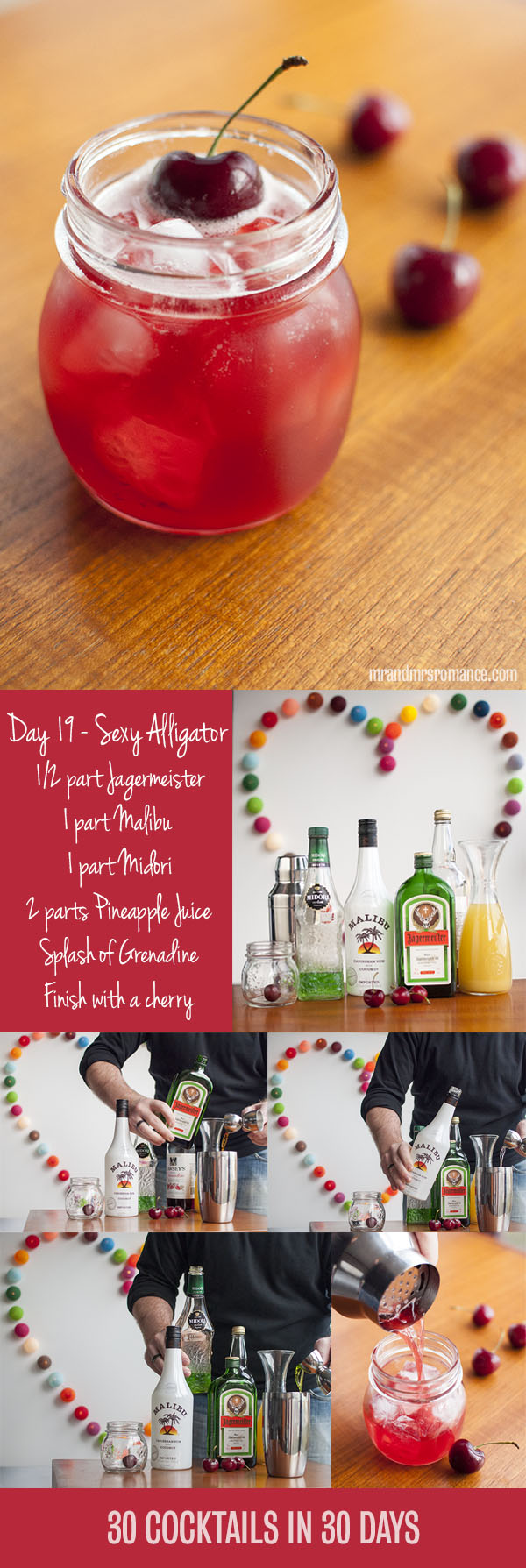 Mr and Mrs Romance - Day 19 - Sexy Alligator Cocktail Recipe