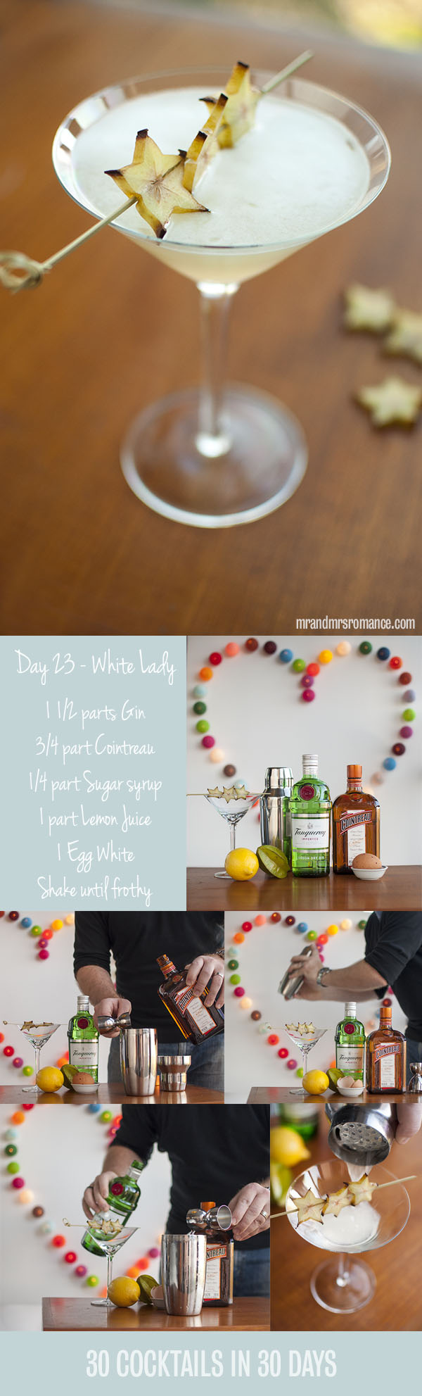 Mr and Mrs Romance - Day 23 - White Lady Cocktail Recipe