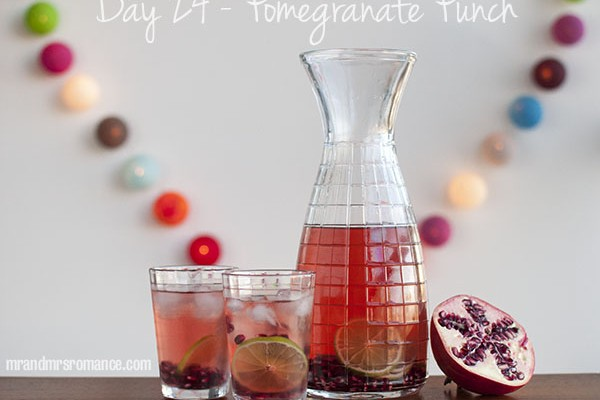 Mr and Mrs Romance - Day 24 - Grannys Pomegranate Punch Cocktail Recipe