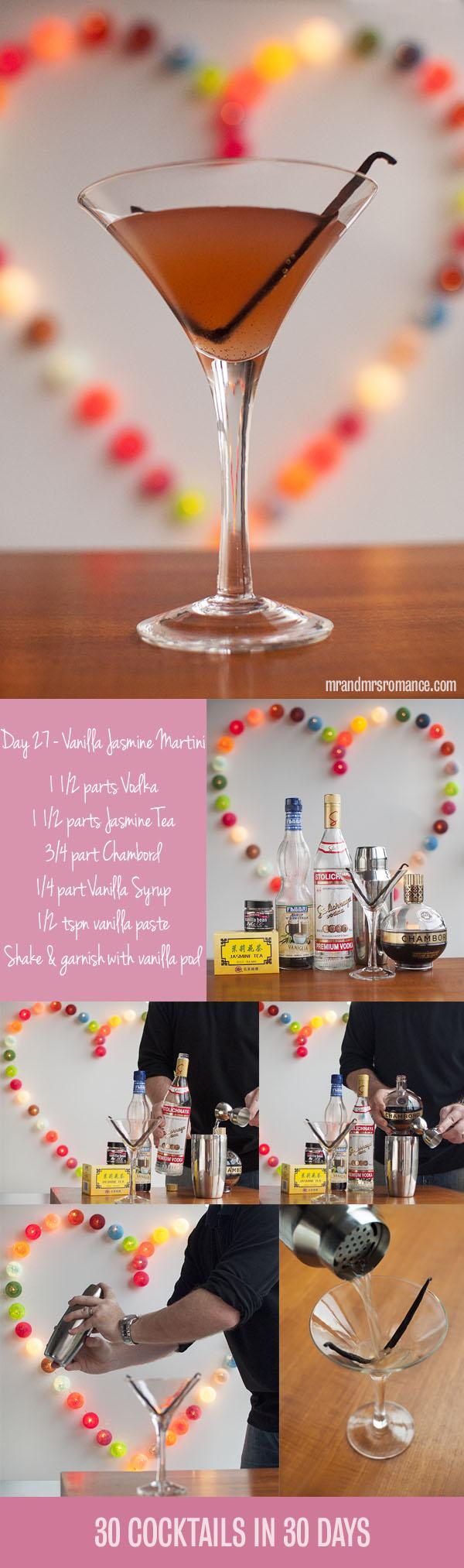 Mr and Mrs Romance - Day 27 - The Vanilla Jasmine Martini Cocktail Recipe