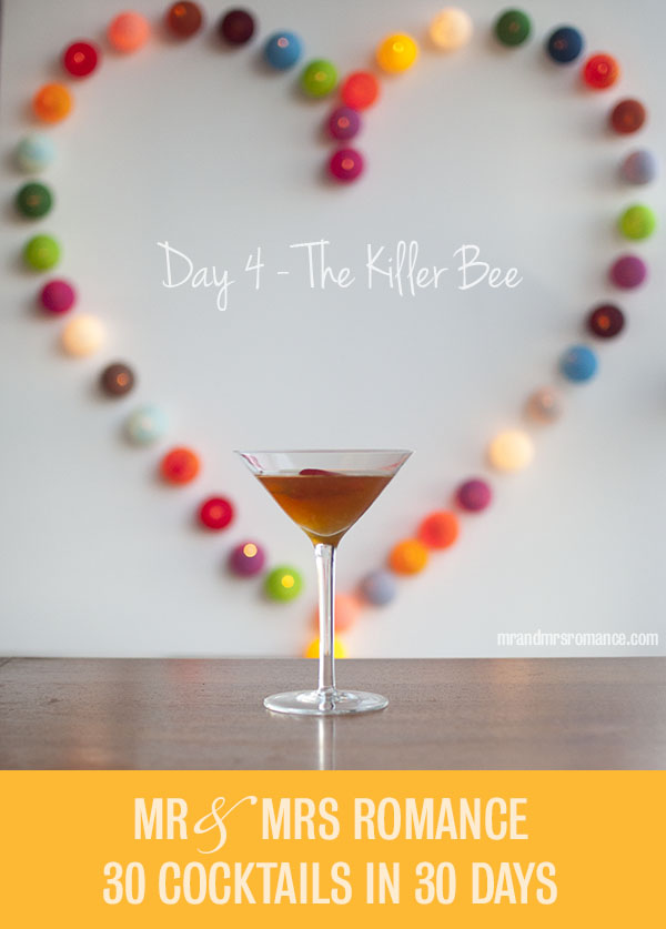 Killer Bee honey vodka cocktail recipe