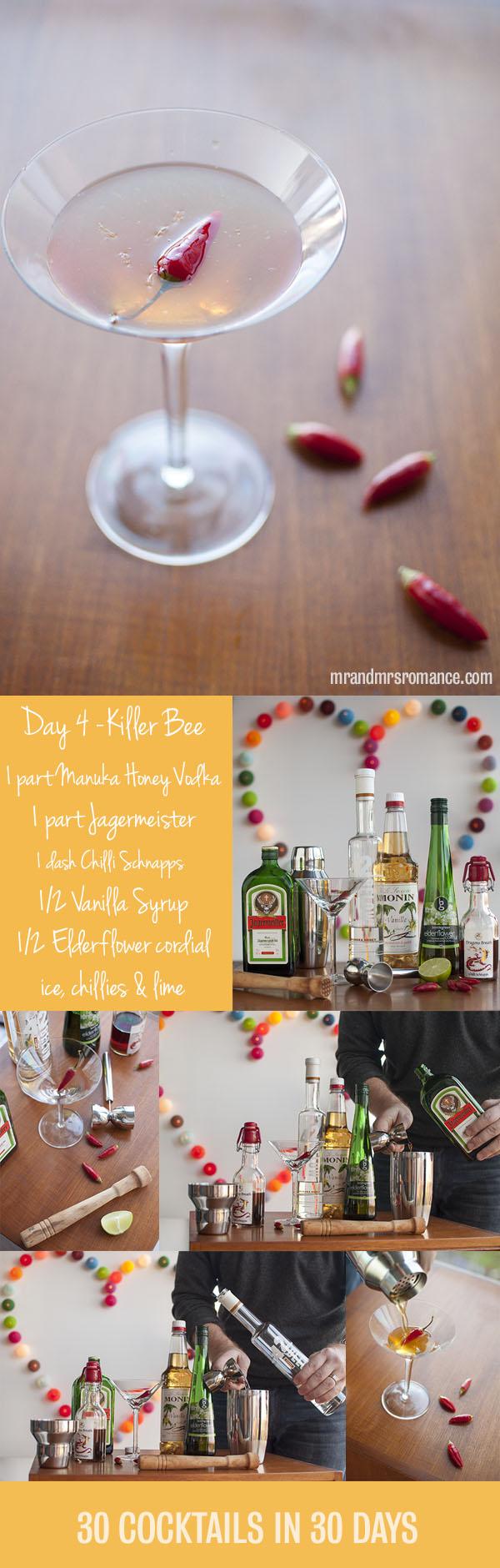 Killer Bee honey vodka cocktail recipe