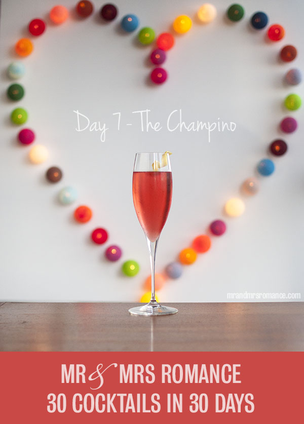 Mr and Mrs Romance - Day 7 - The Champino champagne cocktail