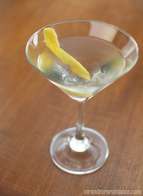 Mr and Mrs Romance - Day 21 - Vodka Martini Cocktail Recipe