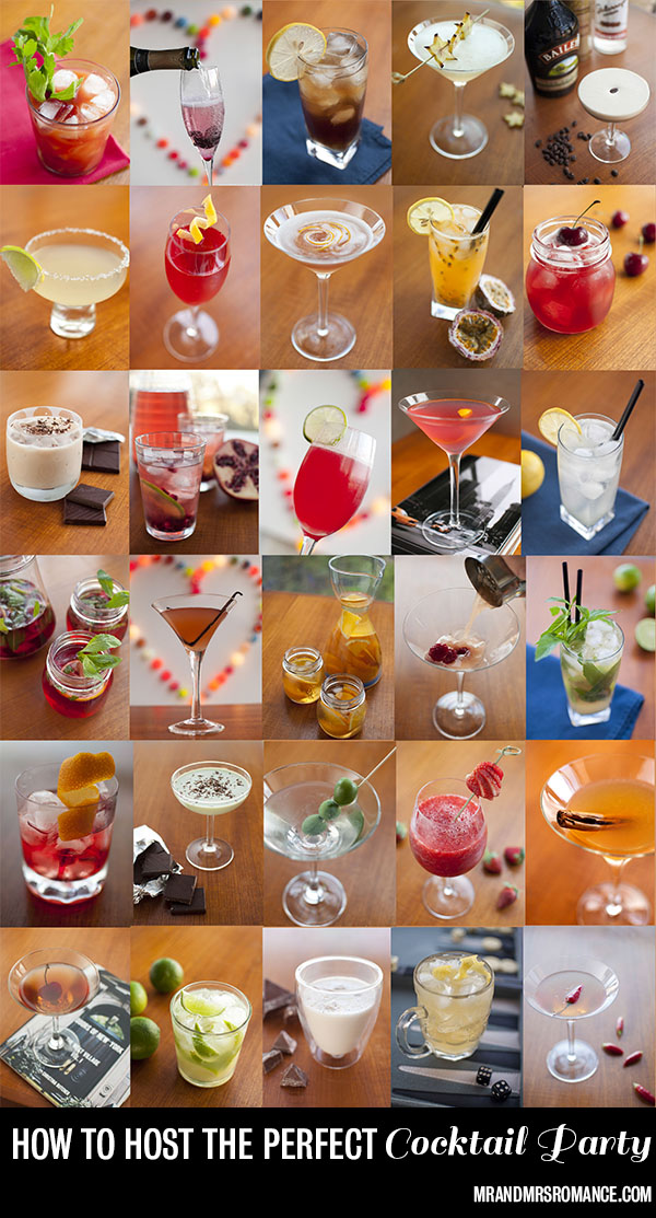 How to host the perfect cocktail party - cocktail list